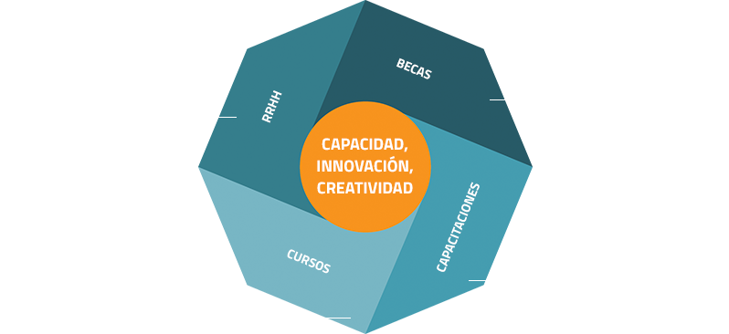 Gráfico capacidad, innovación y creatividad