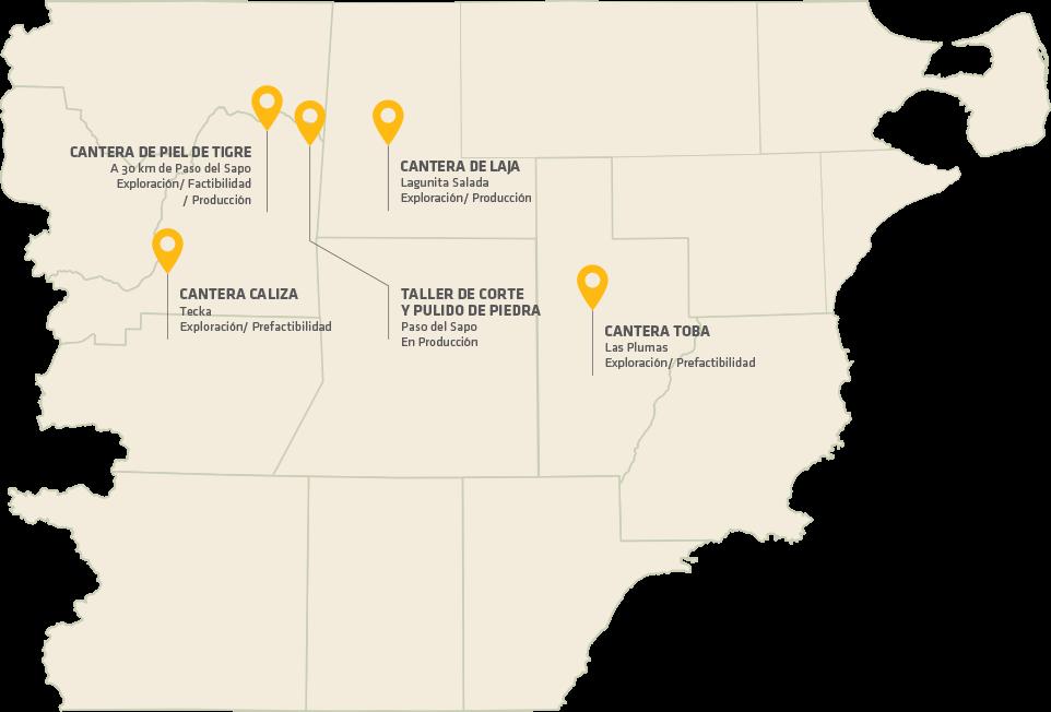 Mapa de proyectos productivos